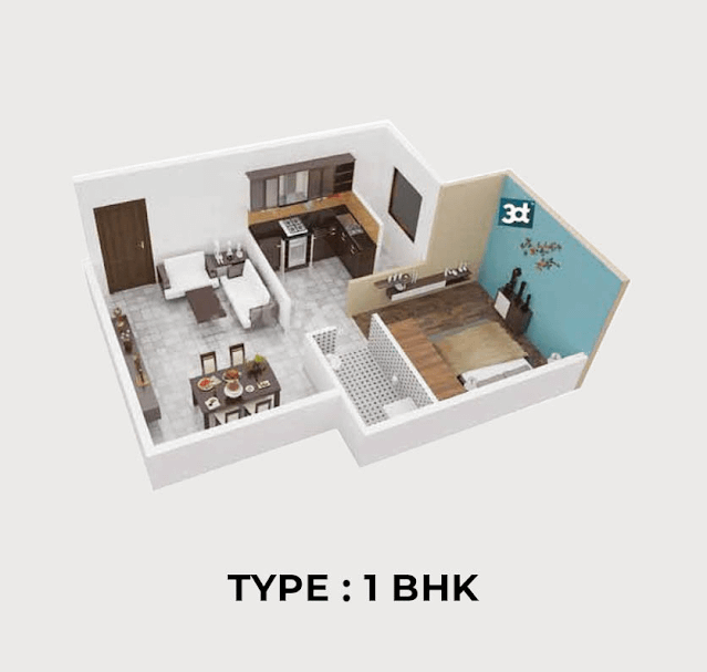 Sriven Rag Meridian Floor Plan 1bhk